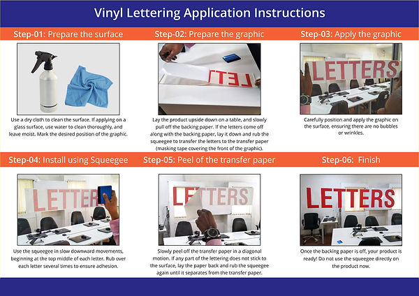 How to apply vinyl Creative Sign and Ban