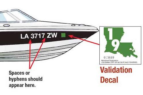 Boat Registration Numbers 1 PAIR