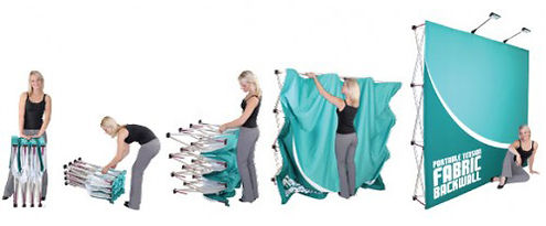 Hop Up Fabric Display Installation-500x5