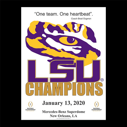Small LSU Tiger Champion Banner
