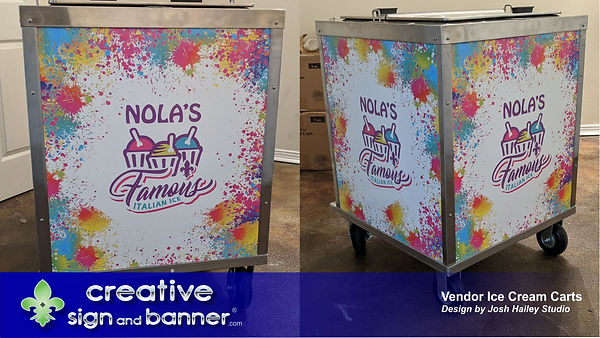 Vendor Cart by Creative Sign and Banner.