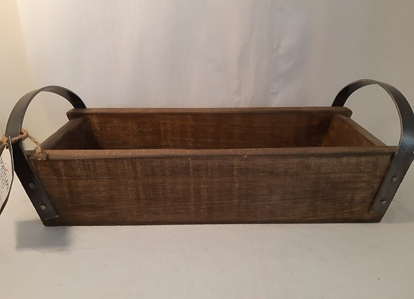 Small Wooden Tray with Metal Handles, Made in Ontario