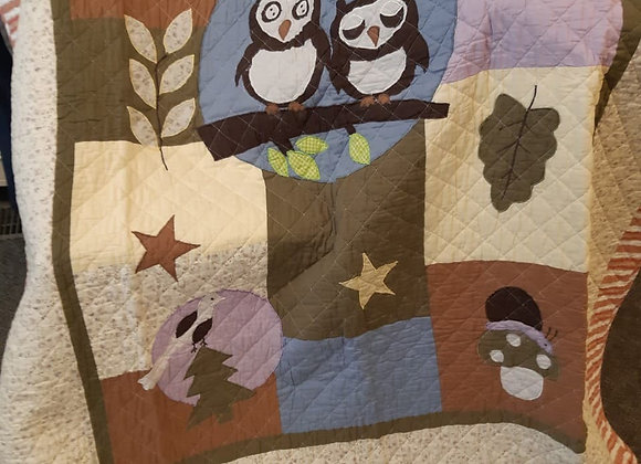 Quilted Baby Throws- Owl