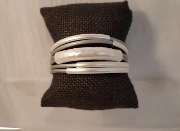 Magnetic Grey & Silver Tone Bracelet