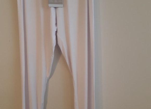 LNBF Bamboo Capri Leggings - White
