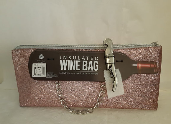 Insulated Wine Bag - Pink Sparkly