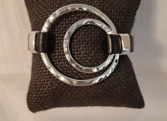 Magnetic Bracelet with Silvertone Circles
