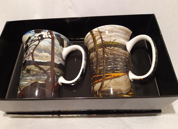 Sets of 2 McIntosh Bone China Mugs - Tom Thomson