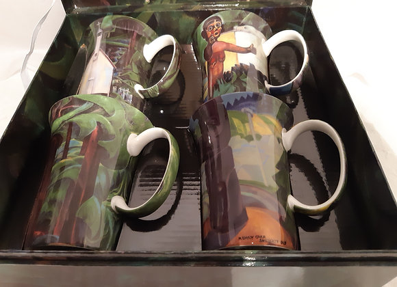 Beautiful McIntosh Bone China Mug Sets- Emily Carr