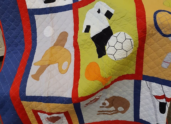 Quilted Baby Throws - Soccer