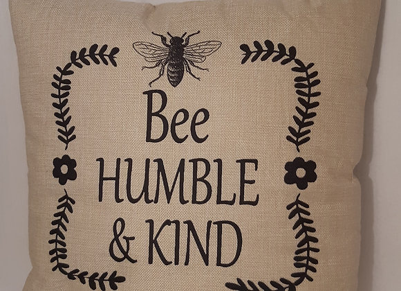 """Positive themed Bee Cushions - """"Be Humble & Kind"""""""