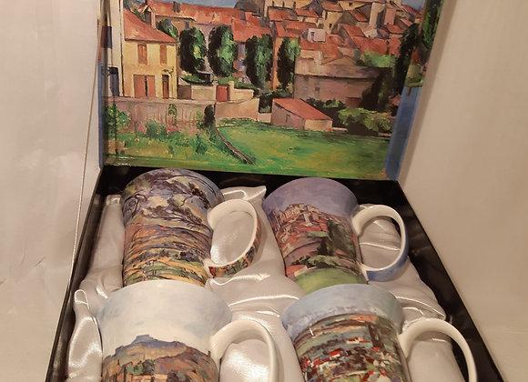 Beautiful McIntosh Bone China Mug Sets - Paul Cezanne