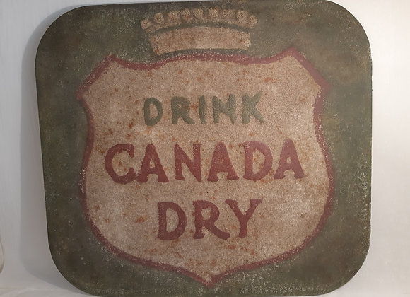 Vintage Inspired Metal Canada Dry Sign