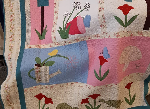 Quilted Baby Throws - Garden