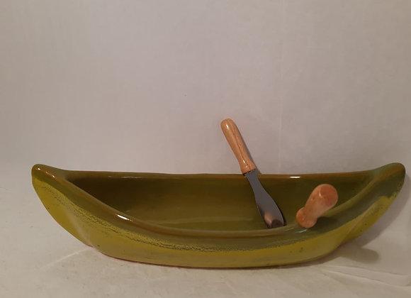 Canoe Dip Pot - Green