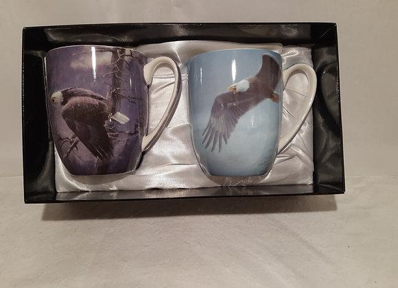 Sets of 2 McIntosh Bone China Mugs - Robert Bateman