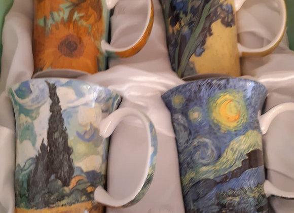 Beautiful McIntosh Bone China Mug Sets - Van Gogh