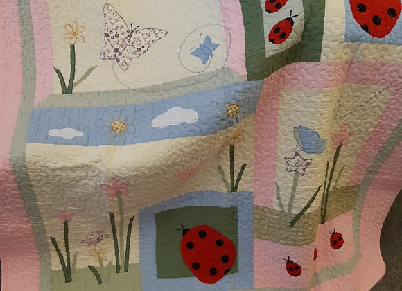 Quilted Baby Throws - Ladybug