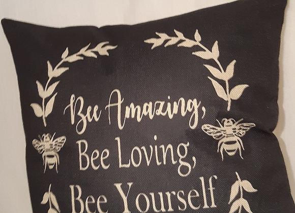 "Positive themed Bee Cushions - ""Bee Amazing, Bee Loving, Bee Yourself"""