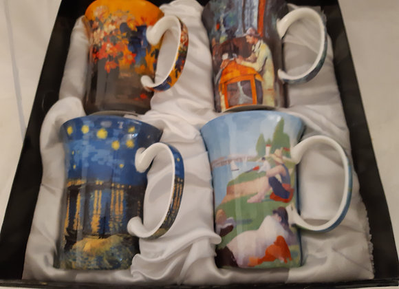 Beautiful McIntosh Bone China Mug Sets- Post Impressionists