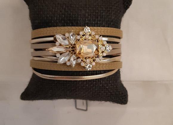 Gold Strap-Stone Bracelet