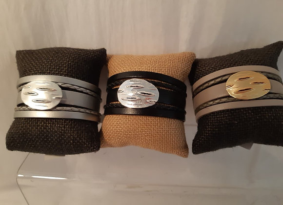 Magnetic Bracelet with Metal Accents