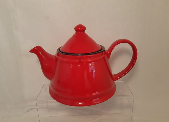 Vintage Style Teapot - Red