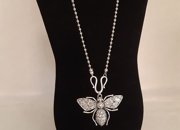 Necklace and Earring Set - Moth