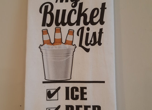 Tea Towel-My Bucket List