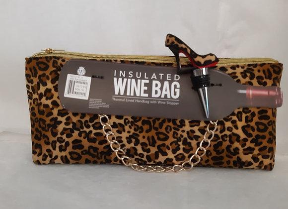 Insulated Wine Bag - Leopard