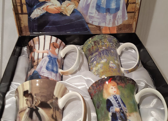 Beautiful McIntosh Bone China Mug Sets - The Impressionists