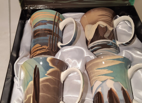 Beautiful McIntosh Bone China Mug Sets- Lawren Harris