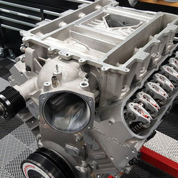 434 Boosted engine just about done. This baby gets installed in a ZL1 Camaro soon with an auto trans
