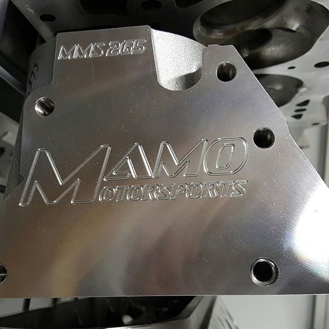 The end pads freshly machined and updated with my logo and the MMS 265 insignia for easy idendificat