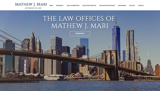 Mathew J. Mari Web Design