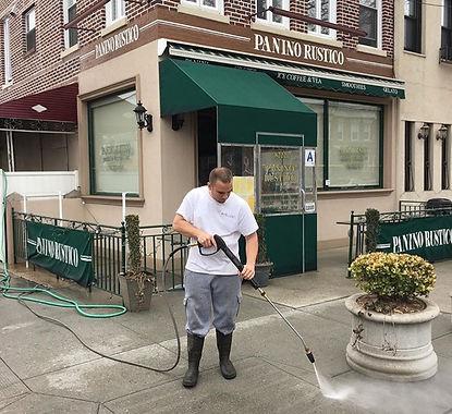 Power Washing sidewalk