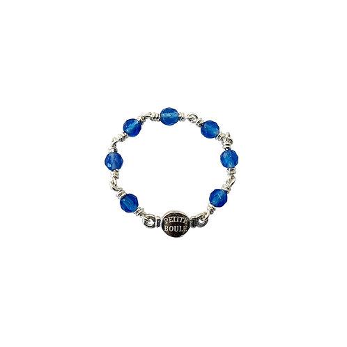 Blauachat in Silber