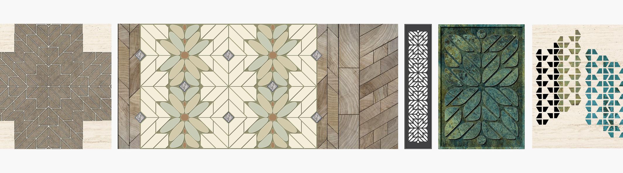 Custom decorative landscape design vernaular system.