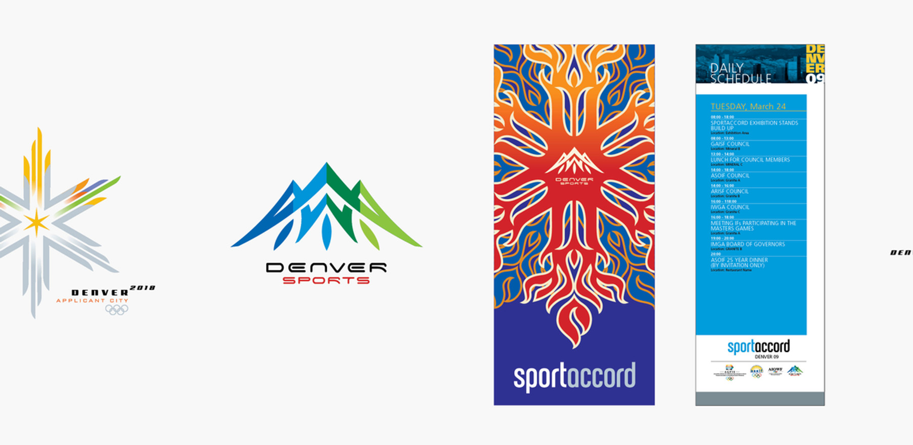 Denver Sport Commission, Colorado 2018 Olympic Bid Identity, Sportaccord (Intern. Olympic Committee - Denver)