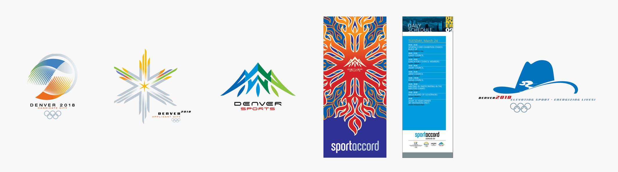 Denver Sport Commission, Colorado 2018 Olympic Bid Identity, Sportaccord (Intern. Olympic Committee - Denver)