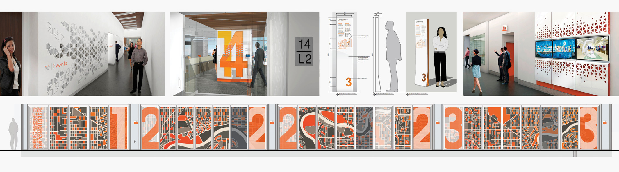 Brand design for workplace environments.