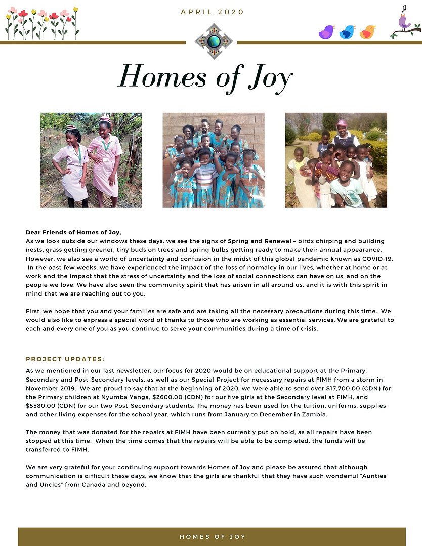 HOJ Newsletter, April 2020 FINAL MAILOUT