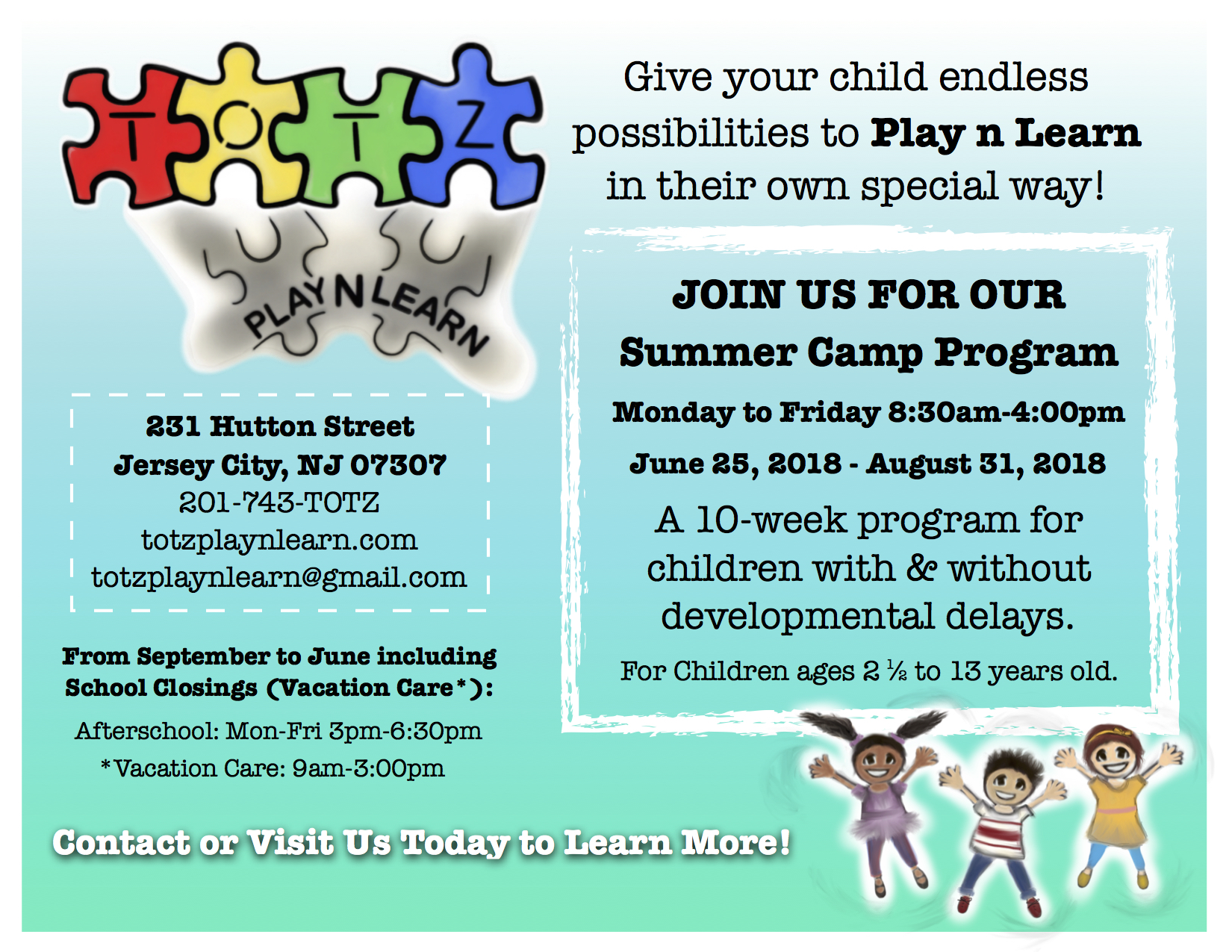 Looking to join TOTZ Summer Camp?