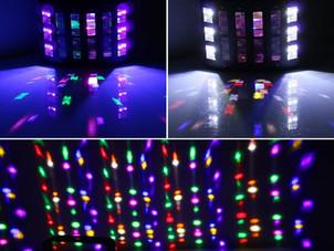 LaluceNatz 48W Multicolors LED Beam 6LEDs Black Light Glow
