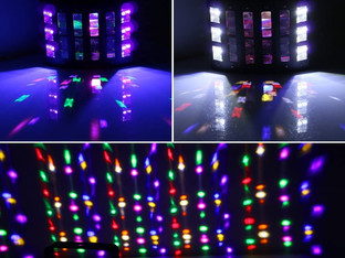 LaluceNatz 48W Multicolors LED Beam 6LEDs Black Light Glow