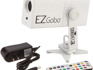 CHAUVET EZGobo is a battery-powered LED gobo projector