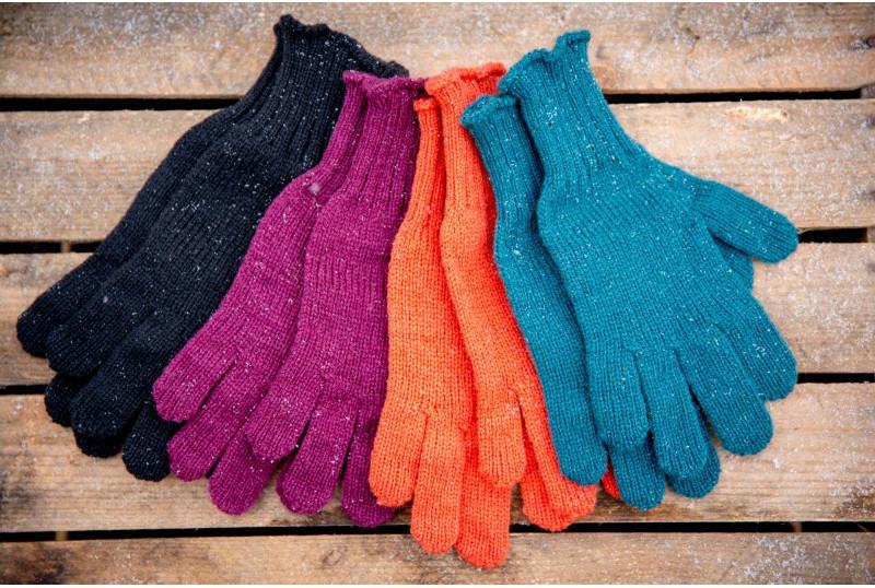 gants tricotés- La Laine des Coccinelles