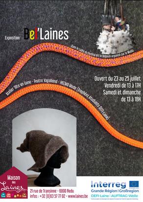Exposition Bel'Laines ces 23, 24 et 25 juillet.