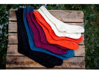 chaussettes tricotées - La Laine des Coc