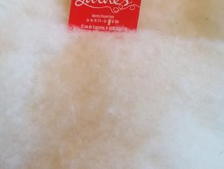 La laine des coccinelles - nappe cardée écrue